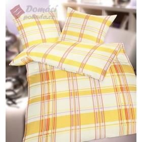 Bavlněné povlečení Printemps - žluté , 140x200, 70x90