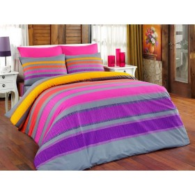 Povlečení Elle fialové - 140x200, 70x90, 100% bavlna