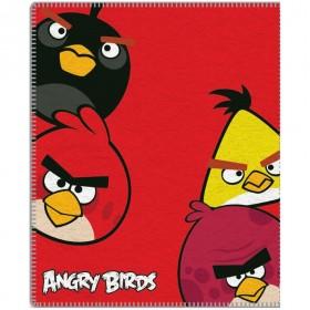 Fleecová deka Angry Birds 095 - 120x150 cm, červená