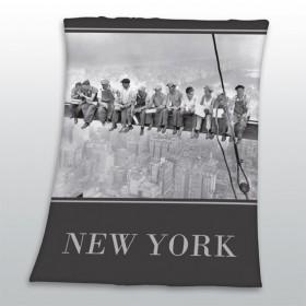 Fleecová deka N.Y. Steelworkers - 130x160cm