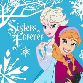 Magický froté ručníček Frozen Sisters Forever - 30x30 cm, 100% bavlna