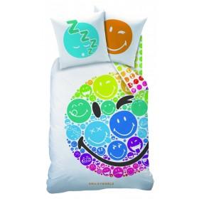 Povlečení Smiley Rainbow CTI - 140x200, 70x90, 100% bavlna