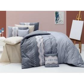 Povlečení Ekinoks šedý 220x200, 2ks 70x90 FRANCIE - 100% bavlna