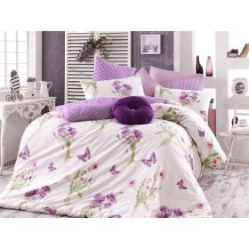 Povlečení Natali Lila 140x200, 70x90 - 100% bavlna
