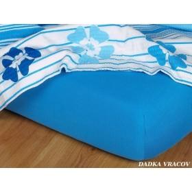 Jerseyové prostěradlo s vysokou gramáží 190 g/m2, rozměr 180x200, denim