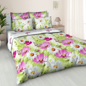 Povlečení Summer lila 3D 140x200, 70x90 - 100% bavlněný popelín