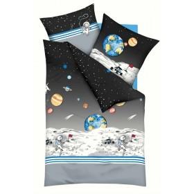 Bavlněné povlečení do malé postýlky Kosmonaut, 100x135, 40x60