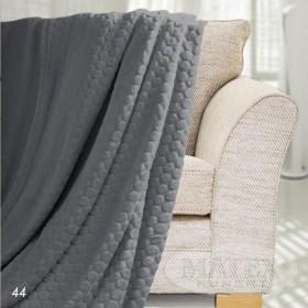 Mikoplyšová deka Honey tmavě šedá - 150x200 cm