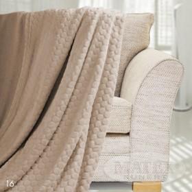 Mikroplyšová deka Honey béžová - 150x200 cm