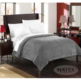 Velká mikroplyšová deka - přehoz přes postel Montana tmavě šedá - 170x210 cm