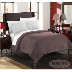 Velká mikroplyšová deka - přehoz přes postel Montana čokoládová - 170x210 cm