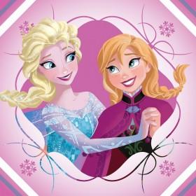 Magický froté ručníček Frozen Anna a Elsa růžový FR 03 - 30x30 cm, 100% bavlna