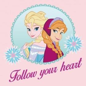 Magický froté ručníček Frozen Follow your heart  růžový FR 05 - 30x30 cm, 100% bavlna