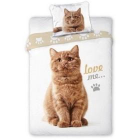 Povlečení Best Friends Kočka hnědá - 140x200, 70x90 - 100% bavlna