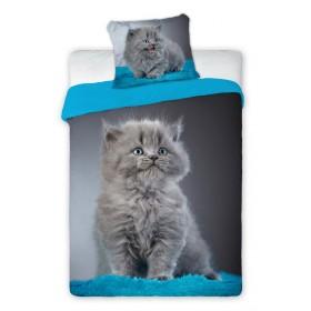 Povlečení Best Friends Kotě modré - 140x200, 70x90 - 100% bavlna