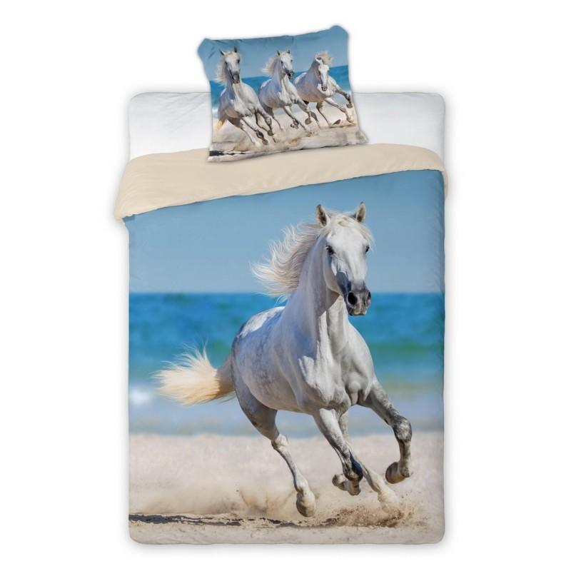 Povlečení Best Friends Kůň na pláži - 140x200, 70x90 - 100% bavlna
