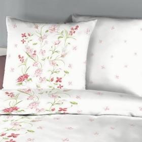 Krepové povlečení Viola rosé, 140x200, 70x90 - detail polštáře