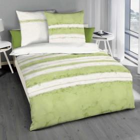 Kaeppel Povlečení Aquarello zelené, 140x200, 70x90 makosatén