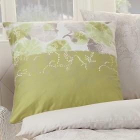 Kaeppel Povlečení Diffusion zelené, 140x200, 70x90 - detail polštáře