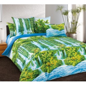 Povlečení Vodopády 140x200, 70x90 - 100% bavlna - perkal