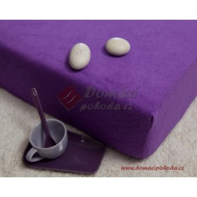 Prostěradlo froté 180x200 - fialové střední