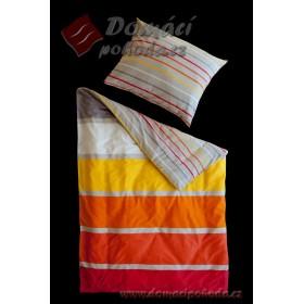 Povlečení MINI&MAXI Orange - satén easy care 140x200, 70x90
