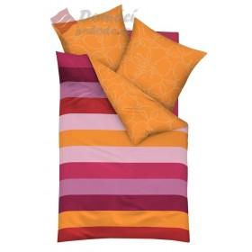 Obliečky Mako satén Buď má  - orange,  140x200, 70x90