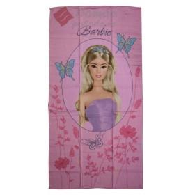 Osuška Barbie - růžová, 70x130 cm - 100% bavlna