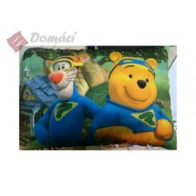 Dekorační polštářek s elastenem - Medvídek Pú a Tygřík - 24x36 cm s výplní