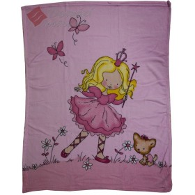 Fleece deka - Malá princezna, 75x100cm