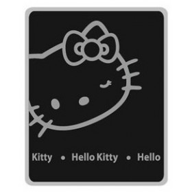 Fleecová deka Hello Kitty černá - 130x 160 cm