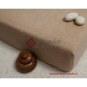 Prostěradlo froté 100x220 cm - ořechové