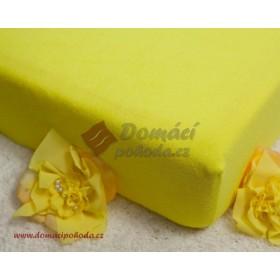 Prostěradlo froté 100x220 cm - citrónově žluté