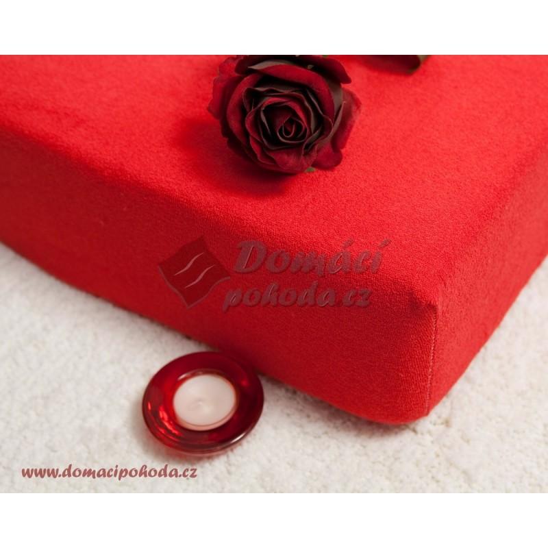 Prostěradlo froté 100x220 cm - červené