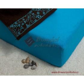 Prostěradlo froté 100x220 cm - tyrkysové