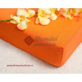 Prostěradlo froté 100x220 cm - oranžové