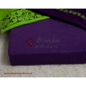 Prostěradlo froté 100x220 cm - tmavě fialové