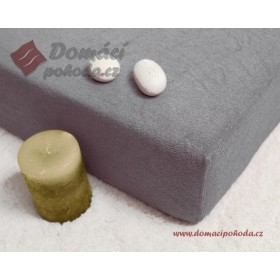 Prostěradlo froté 100x220 cm -  šedé