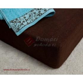 Prostěradlo froté 100x220 cm -  čokoládově hnědé