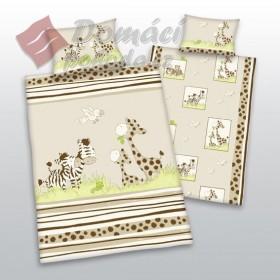 Obliečky do postýlky Zebry a žirafy - 100x135, 40x60