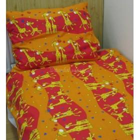 Povlečení do postýlky Žirafy oranžové - 95x135, 45x65