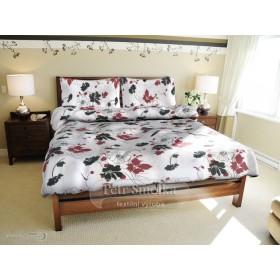 Bavlněné hladké obliečky - Máky červené - 140x200, 70x90