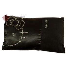Dekorační polštářek Hello Kitty, černý  - 28x42 cm s výplní