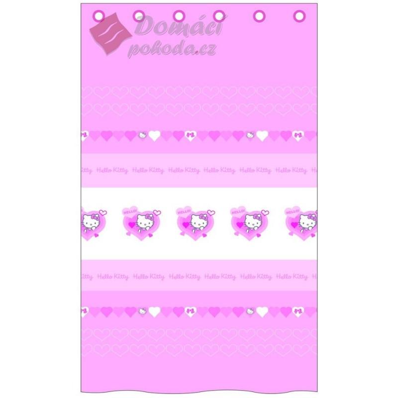 Záclona Hello Kitty Lucie 140x240 cm