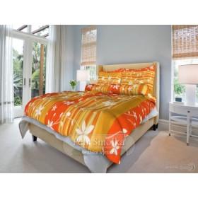 Prodloužené povlečení Liana oranžová - 140x220, 70x90