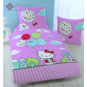 Obliečky Hello Kitty Circus - 135x200, 80x80, mikrovlákno