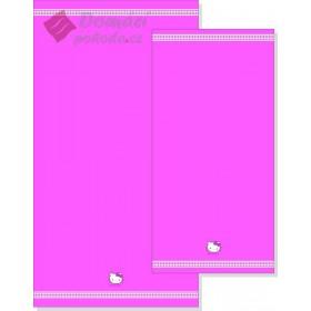 Froté osuška Hello Kitty Fuchsia - růžová, 70x140 cm - 100% bavlna