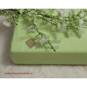 Nepropustné a prodyšné froté prostěradlo s polyuretanem 70x160 - světle zelené