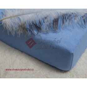 Nepropustné a prodyšné froté prostěradlo s polyuretanem 70x160 - světle modré
