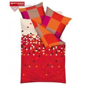 Obliečky Mako satén SuperDuper - červené 140x200, 70x90
